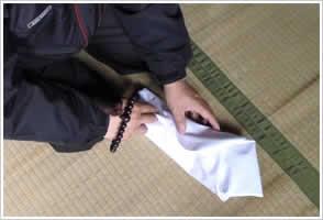 お位牌・仏像の白布梱包