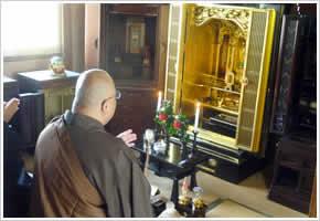 お仏壇ご供養の様子