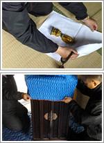 お位牌・仏像の白布梱包と目隠し梱包