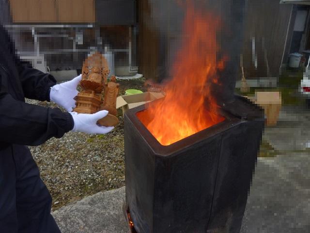 仏像お焚き上げの例1
