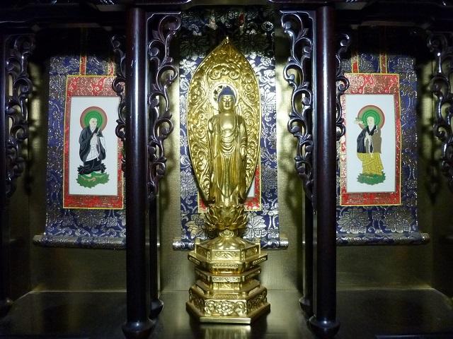 ご本尊(仏像・掛け軸)の例1